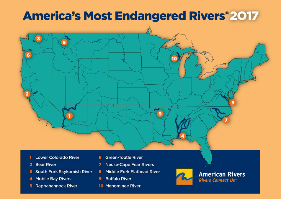 Advocacy Friends Of The Rappahannock - Rivers on the us map